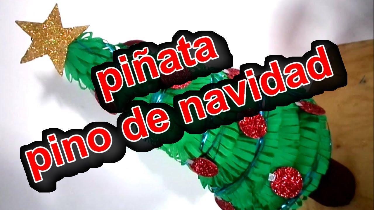 Pi ata de carton pino de navidad youtube - Como hacer cosas de navidad ...