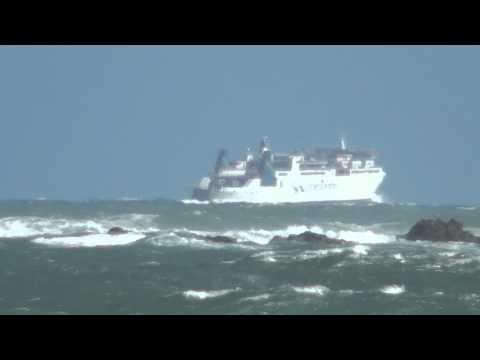 =Rough Weather Cook Strait Pt2= ARATERE Interislander Ferry