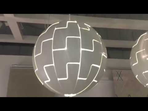 Ikea exploding death star lampshade demo fantastic youtube mozeypictures Gallery