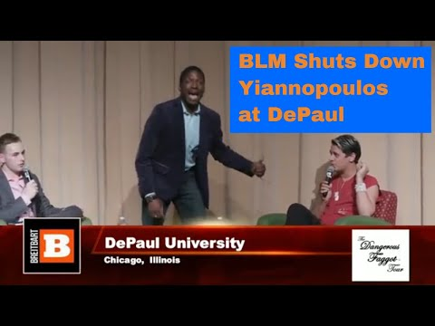 Protesters Shut Down Milo Yiannopoulos at DePaul University