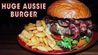 HUGE AUSSIE BURGER CHALLENGE IN BRISBANE!!