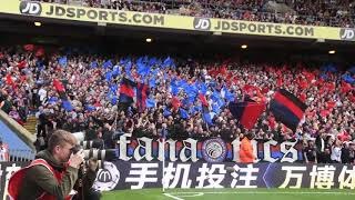 Palace - Huddersfield (Holmesdale Display at Kick Off)