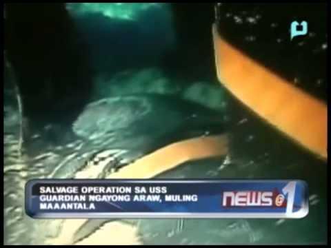 Salvage operations sa USS Guardian ngayong araw, muling maaantala