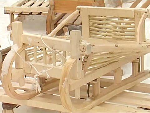 изготовление деревянных саней Youtube