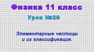 Физика 11 класс (Урок№29 - Элементарные частицы и их классификация.)