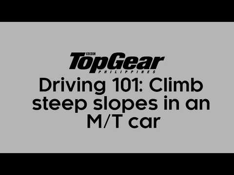 How to tackle steep slopes when driving a MT car