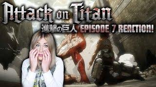 TITAN VS TITAN?! ATTACK ON TITAN! SEASON 1: EPISODE 7 REACTION!