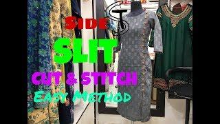Side slit kurti Cutting & Stitching #11
