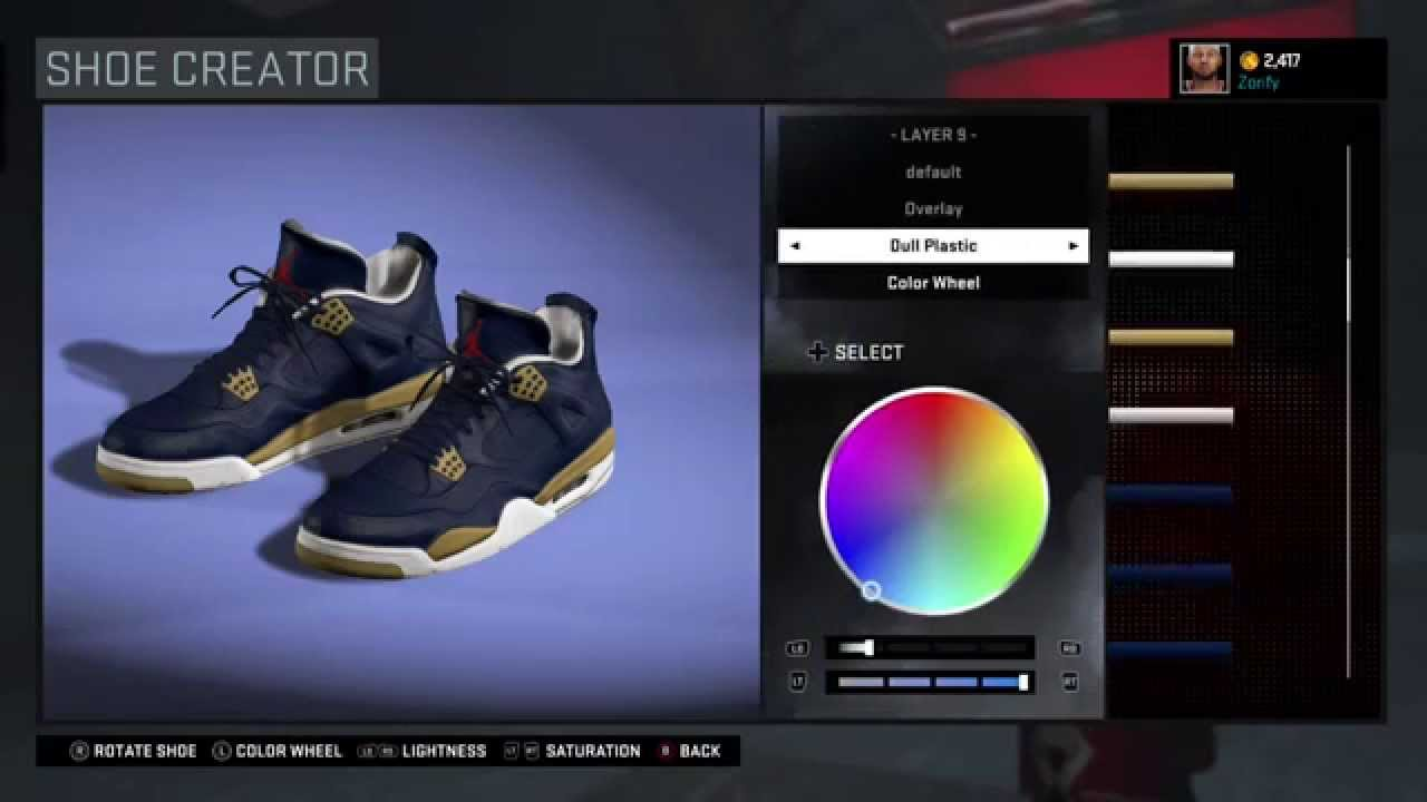 Nba 2k16 Shoe Creator Air Jordan 4 Custom New Orleans Pelicans