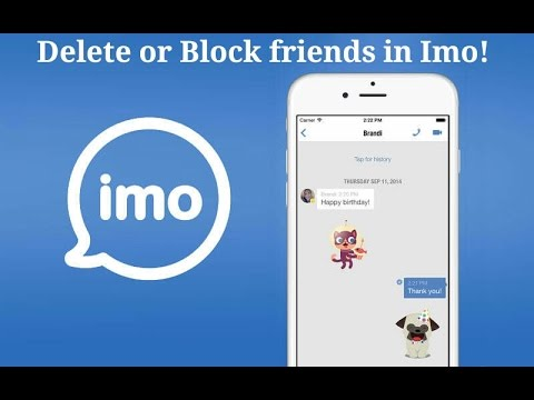 Tutorial,How to delete or block & unblock user on imo