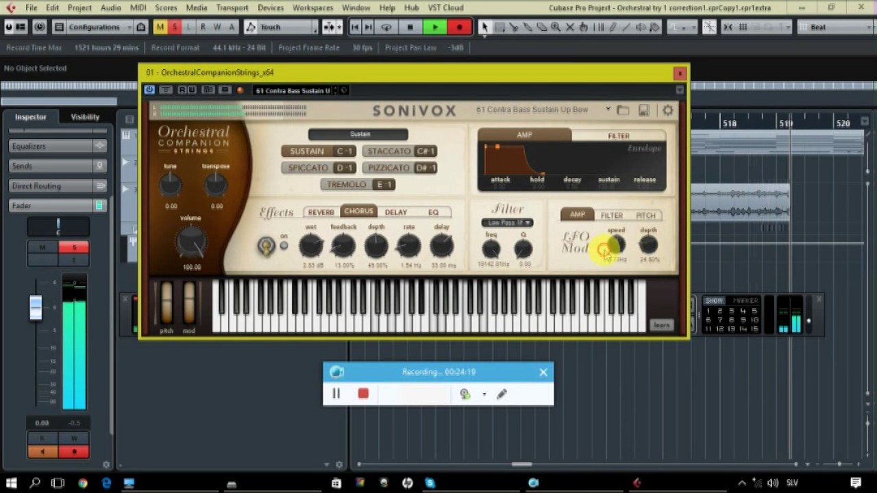 Tryout of Sonivox Orchesra Strings VST instrument in Cubase 8 5 Makes sens  just she doesn`t get it