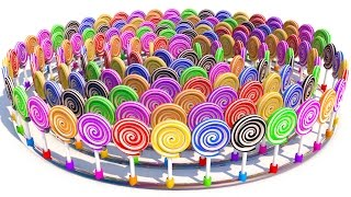 NEW A lot of 3D Lollipops with many candys for kids Learning colors