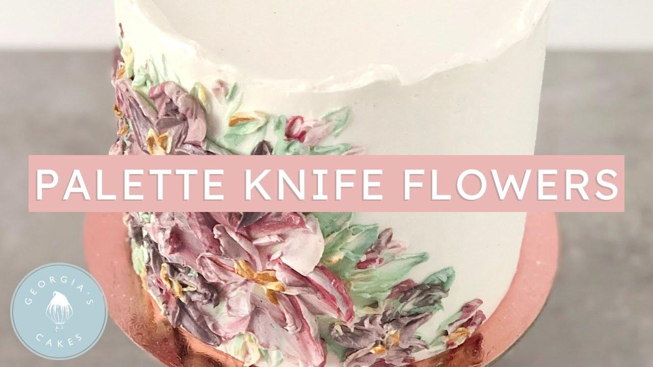 Buttercream Palette Knife Flower Technique for Cakes! | Georgia's Cakes