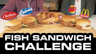 Fish Sandwich Challenge   Fast Food Fish Sandwiches For Lent   Food Review Show