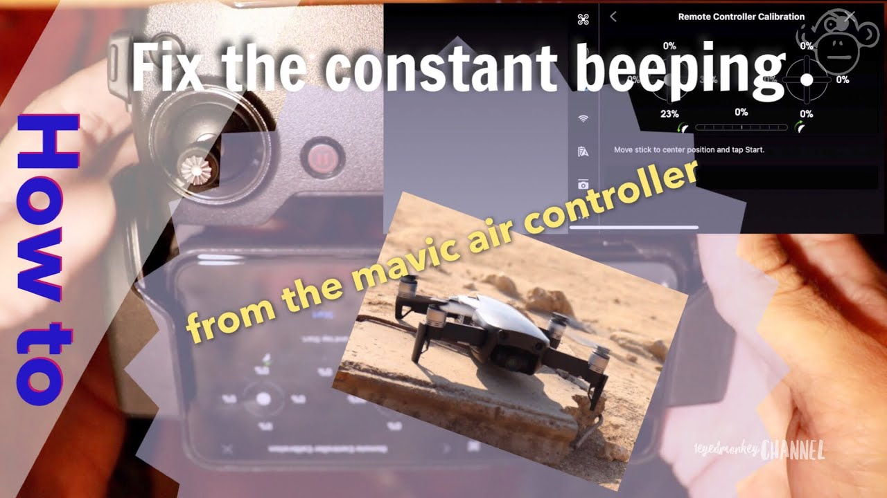 How to fix the non-stop beeping sound of the dji mavic air drone controller