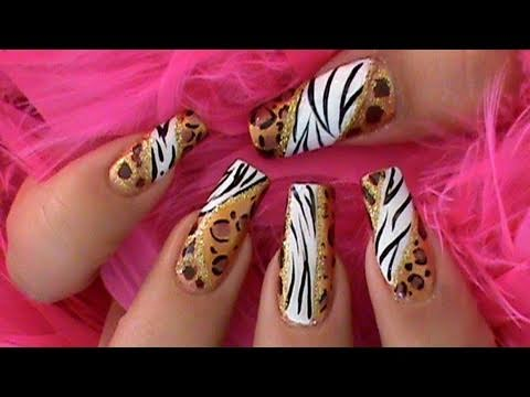 Animal Prints Africa Nail Art Inspired Design Tutorial - Animal Prints Africa Nail Art Inspired Design Tutorial - YouTube