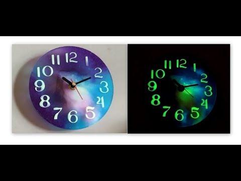 How to make a working galaxy/nebula epoxy resin clock   DIY