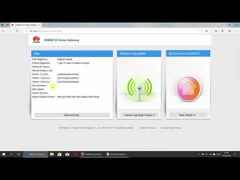 Huawei HG-658 V2 Modem Firmware Güncelleme