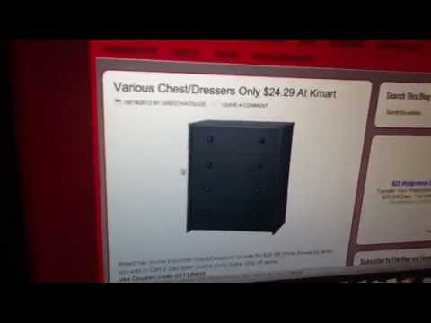 Cheap Chest/Dressers At Kmart - YouTube