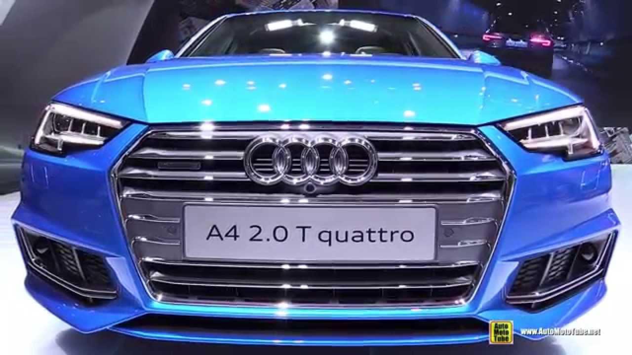 2016 Audi A4 2.0T Quattro S-Line - Exterior and Interior Walkaround - 2015 Tokyo Motor Show ...