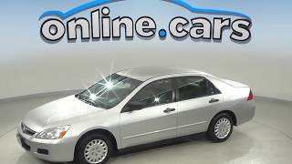 A10143GT Used 2007 Honda Accord VP FWD 4D Sedan Silver Test Drive, Review, For Sale
