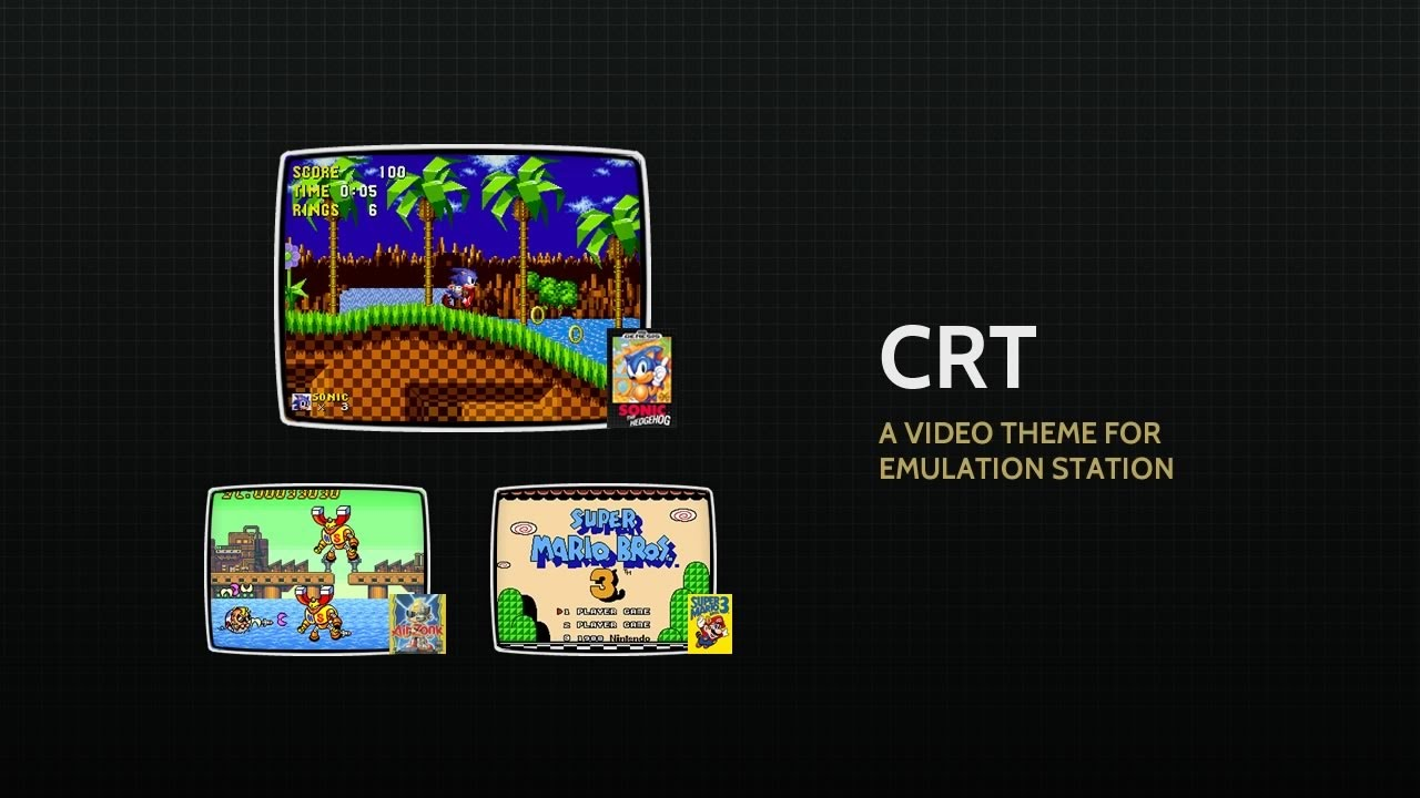 A theme for Emulation Station - CRT