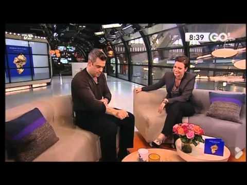 Robbie Williams interview danish Morning-TV part 2(strip-tattoo)