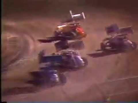 San Jose Speedway A-Main 1989 Howard Kaeding Mike Sargent
