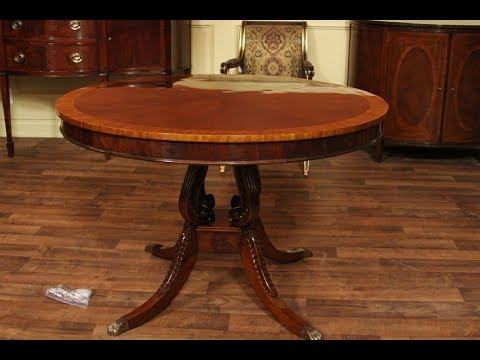 Round Dining Room Tables with Leaves