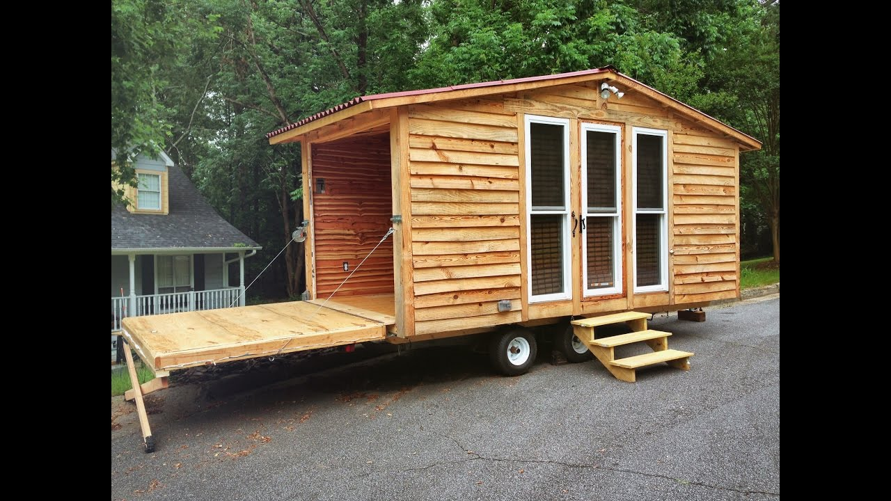 Fold Down Wall Brings Outside In Tiny House Tour Youtube