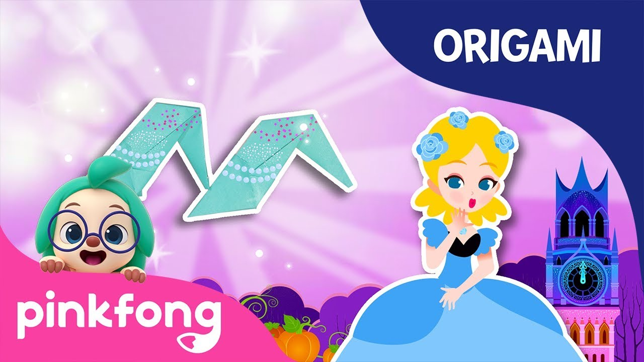 Cinderella's Glass Slipper | Pinkfong Origami | Origami and Songs | Pinkfong Crafts for Children