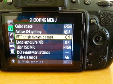 HDR Instructions - Nikon D5100 Settings (How To Use High-Dynamic-Range)