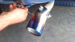 How To | Install Exhaust Burn Muffler Tip- removing exhaust tips - stainless steel tip 2018