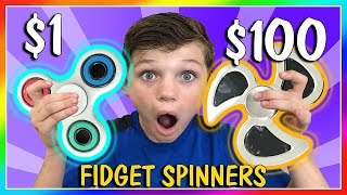$1 VS $100 FIDGET SPINNER | THE TRUTH! | We Are The Davises