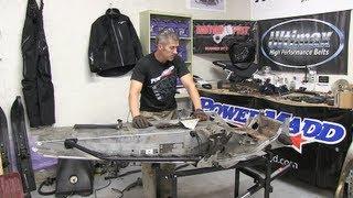700 Ski Doo mod sled ep #4 Chassis Tear down, PowerModz!