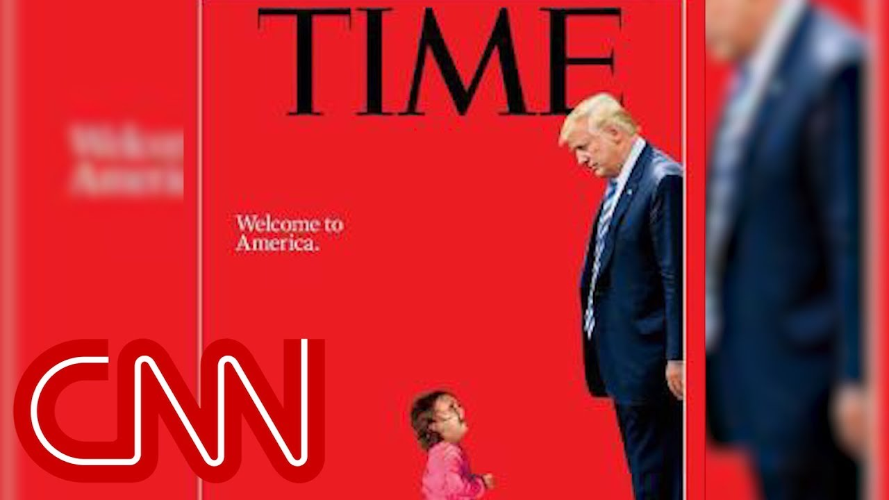 New Time cover shows Trump towering over a sobbing toddler