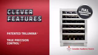 True Twc-24-r-sg-a  Built-in Undercounter Wine Cooler