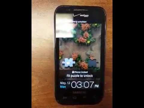 Samsung Galaxy i500 starting up