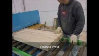 Shuffleboard Table Manufacturing: Glue Up Process