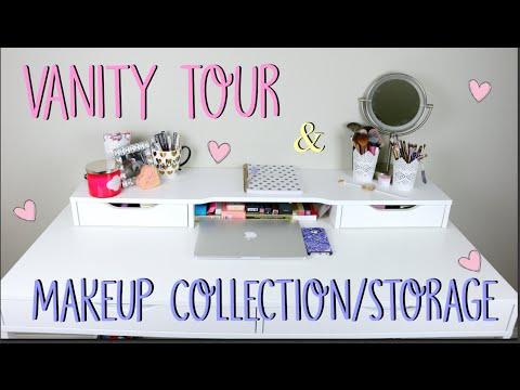 Vanity Tour + Makeup Collection/Storage | JennaAnnxx