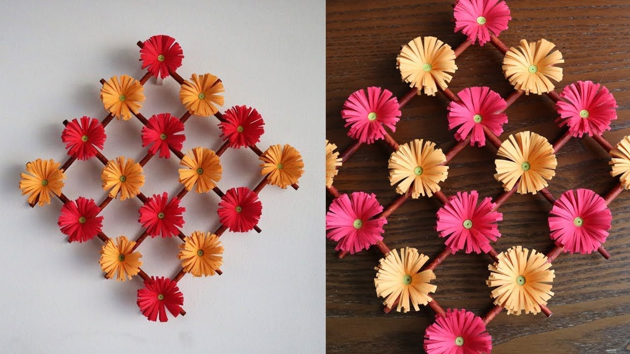 Paper Flower Wall Hanging Diy Hanging Flower Wall