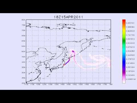 12.04.2011. Fukushima. Possible tracer transport. 6 days forecast. 0-500m.