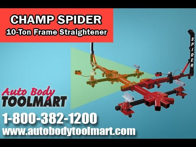 Champ Spider Portable 10 Ton 4 Clamp Frame Straightener Youtube
