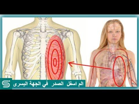 الم اسفل الصدر في الجهة اليسرى الأسباب والعلاج Youtube