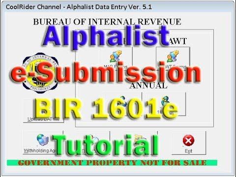 bir alphalist program