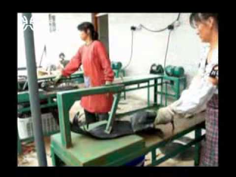 pulling strip rubber machine