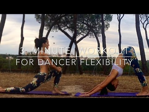 3 minute stretching workout for dancer flexibility  youtube