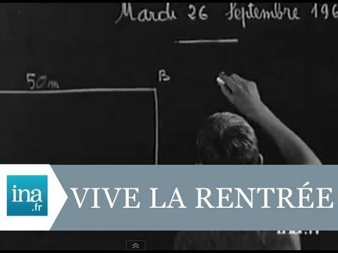 La rentrée des classes à Coulon en 1967 - Archive vidéo INA