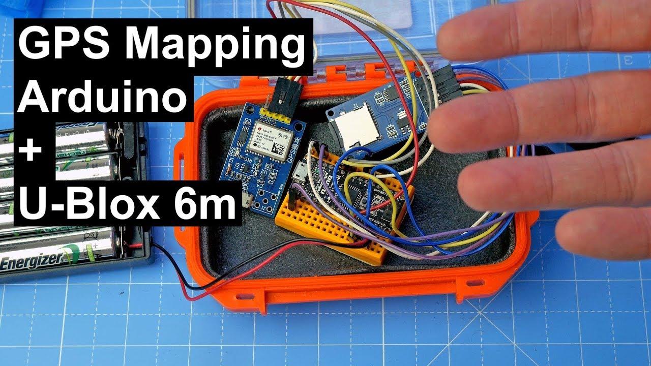 GPS Mapping: Arduino + U-blox 6m module