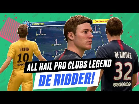 FIFA Pro Clubs Legend, De Ridder, We Salute You